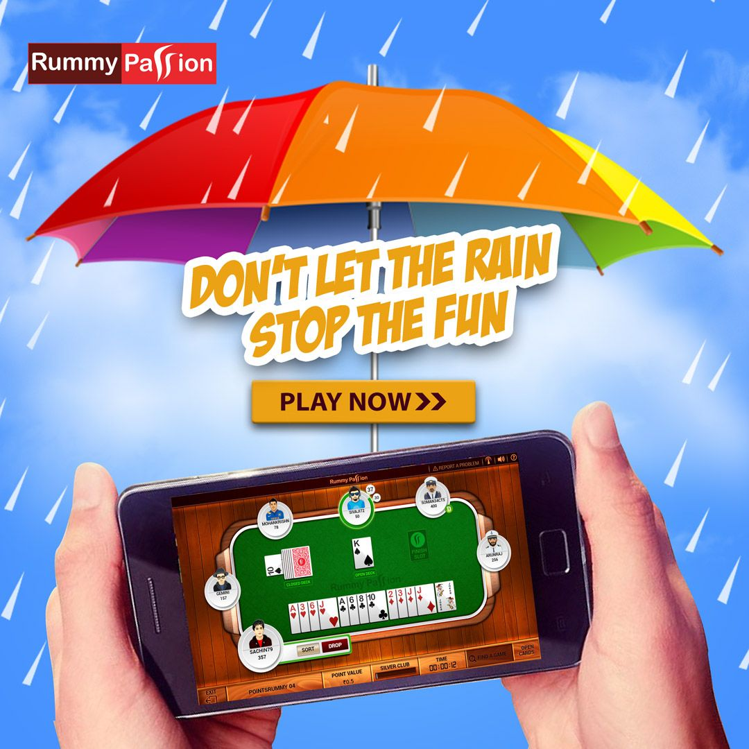 Don't let the Rain Stop the Fun in 2020 Rummy, Rummy
