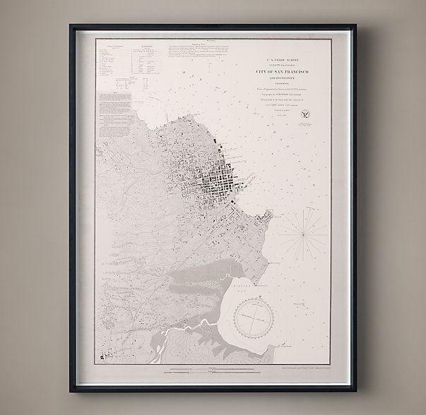 20th C. Nautical Survey Map - San Francisco