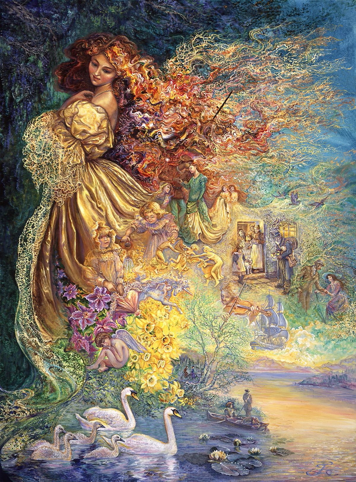 Dress Of Day Dreams 2 Par Josephine Wall Josephine Wall Art Fantasy Art