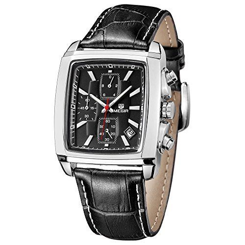 Megir Herren-Armbanduhr Quarzuhr, legeres Lederband Chronograph Analog Braun - http://schmuckhaus.online/megir/megir-herren-armbanduhr-quarzuhr-legeres-analog
