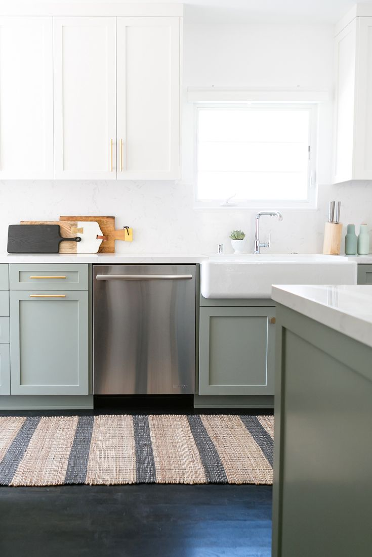 Refine Define 7 Gorgeous Green Kitchens Green Kitchen Kitchen Cabinets Kitchen Renovation