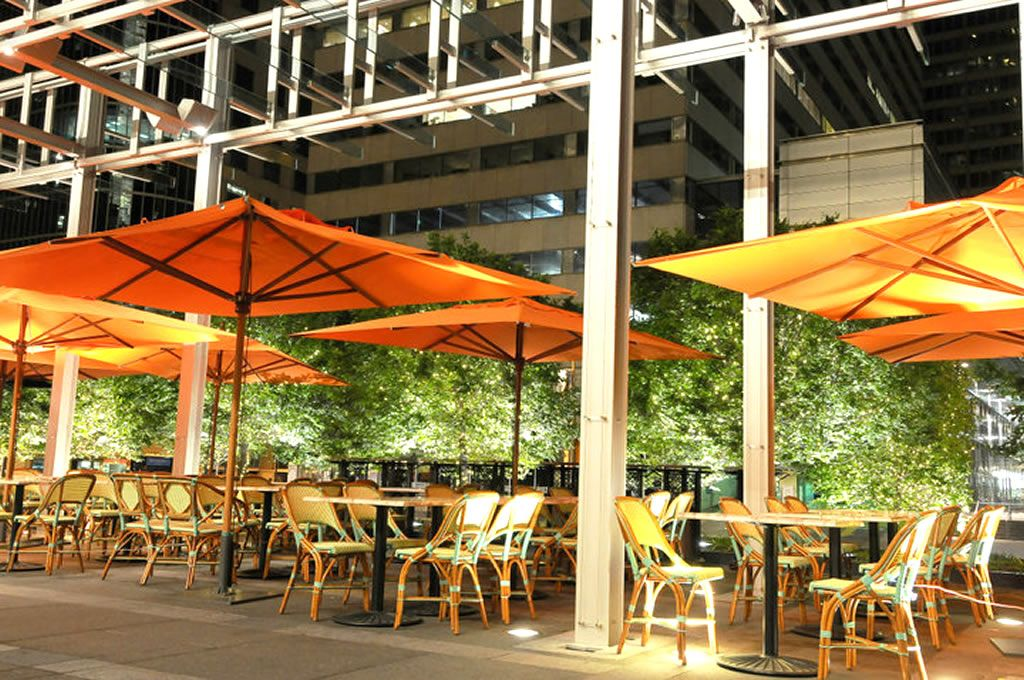 outdoor patio dining hospitality design