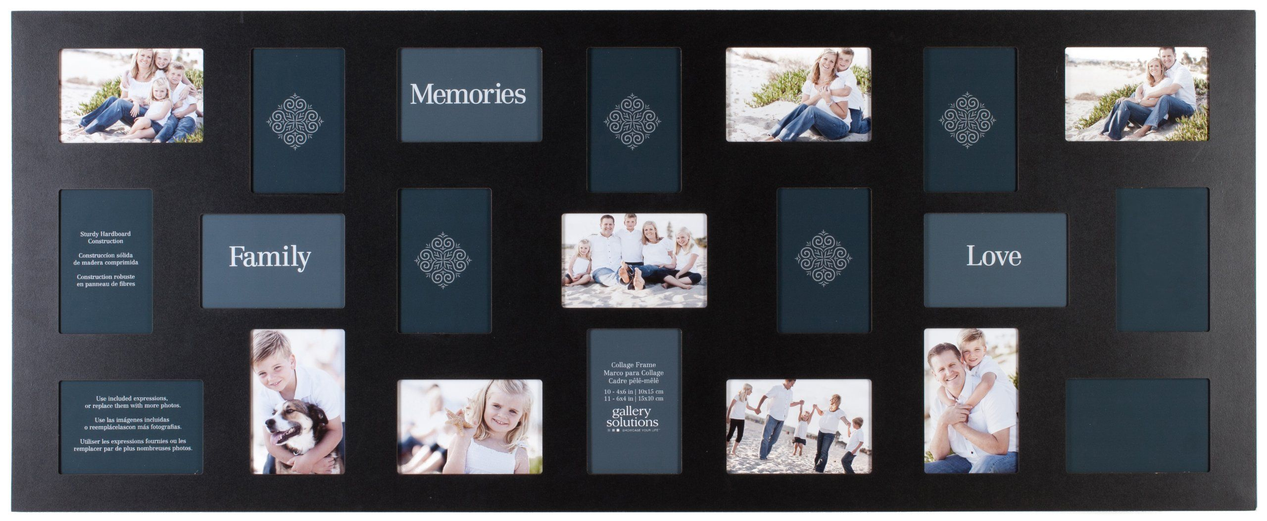 Black 21-Opening Collage Frame | For the Home | Pinterest