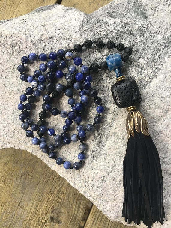 108 Bead Hand Knotted Mala Necklace Prayer Bead Necklace