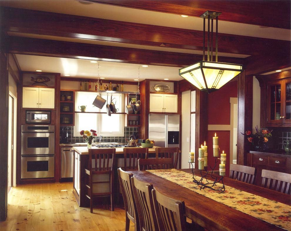 Craftsman Style Kitchen Lighting Island Craftsman Kitchen Light Fixtures Mission Style Light With Images Craftsman Style Kitchens Craftsman Kitchen Dining Table In Kitchen