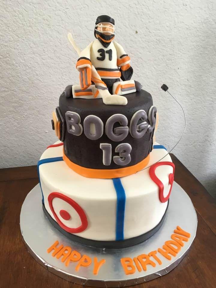 Ice hockey goalie anaheim duck cake hockey cakes