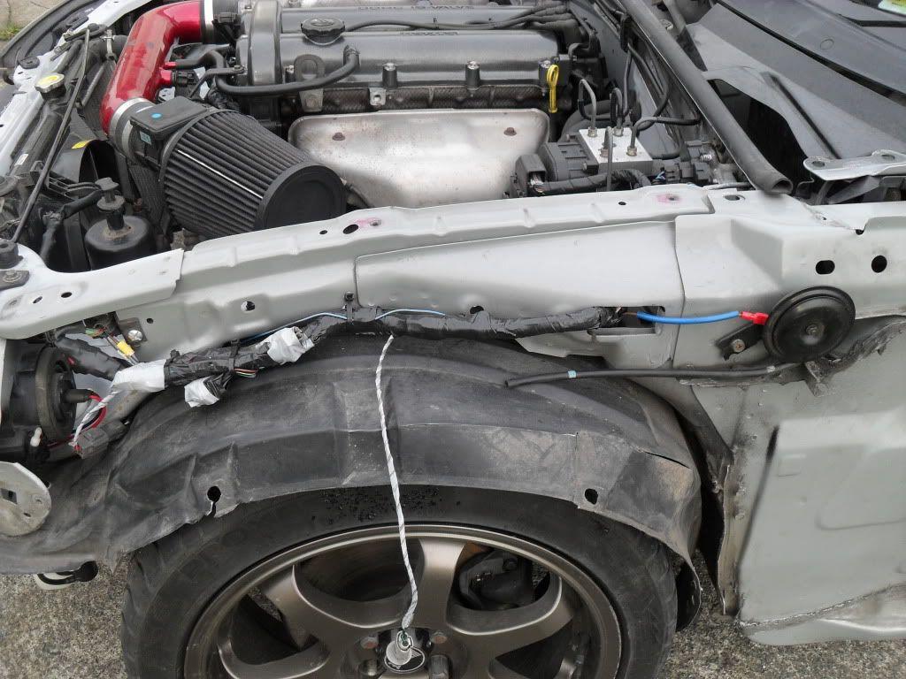NB Mazda Miata wire tuck routing by Indie Miata, Mazda