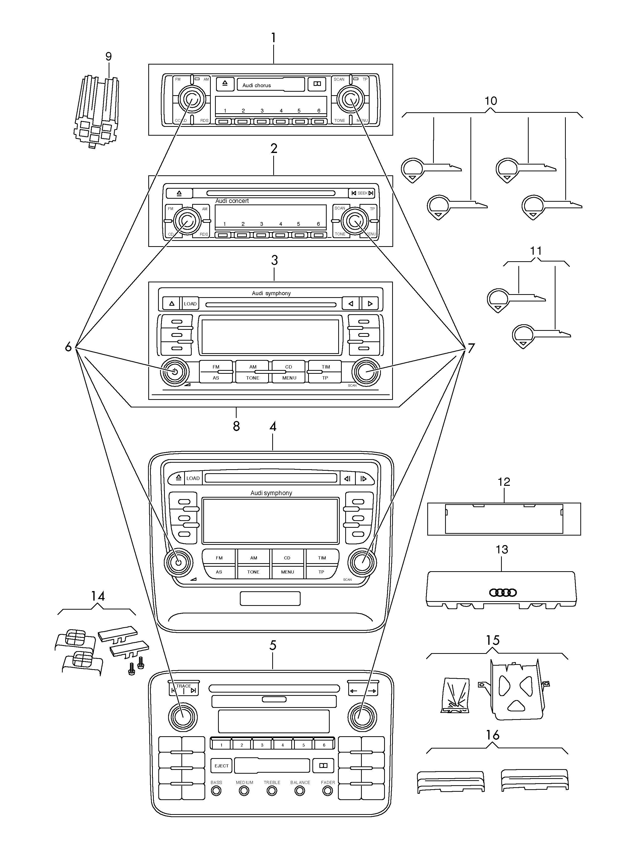 New Audi A4 Symphony Ii Wiring Diagram Diagramsample