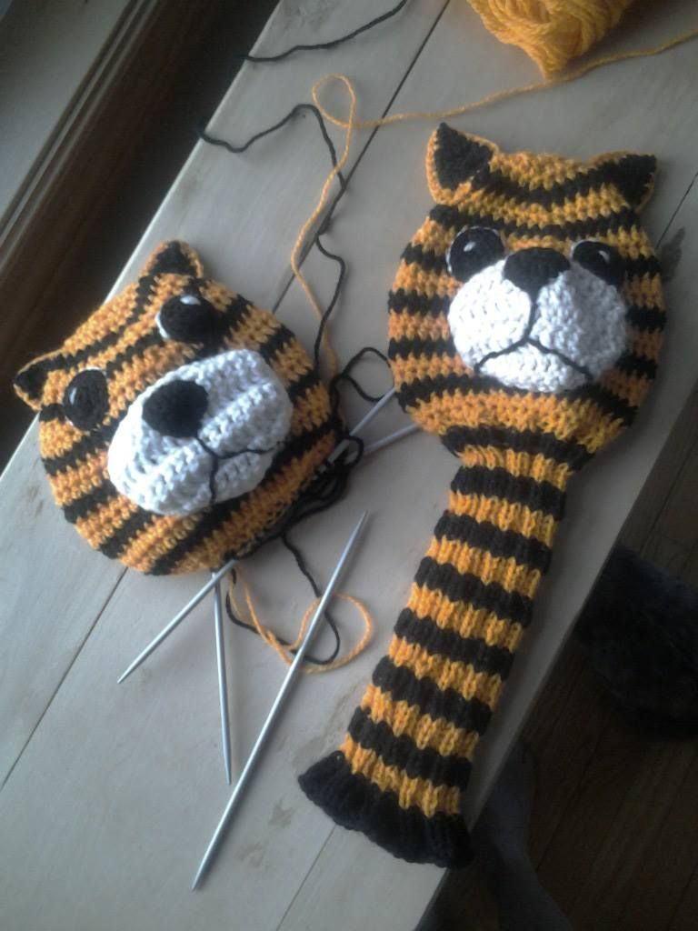 My Tiger Golf Head Cover for Long Drive inspiration.  Etsy..CaddyshackCreative.  I'm on Ravelry.com as Lorisav.