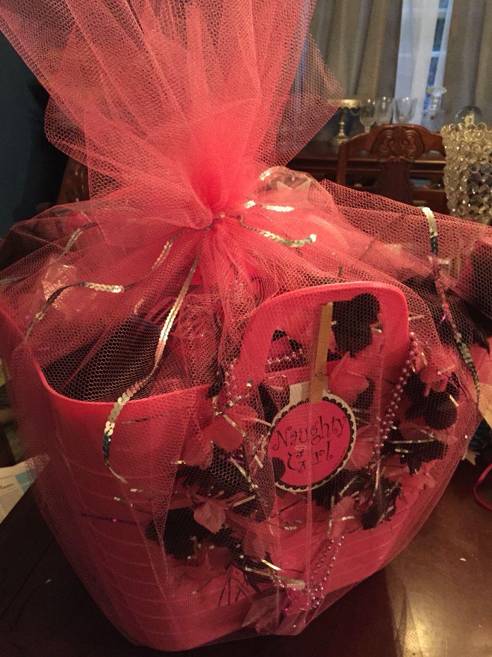 Bachelorette gift basket with images bachelorette gift