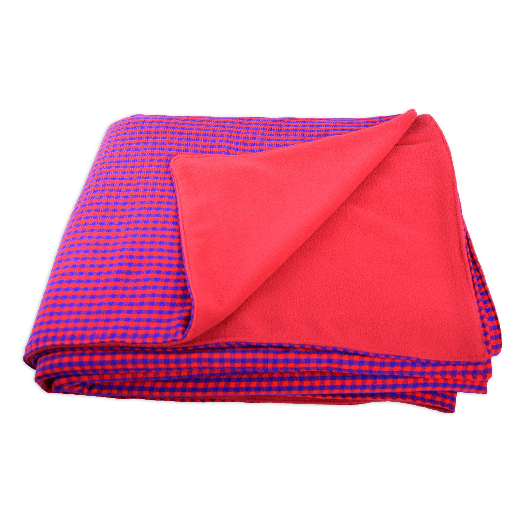 Masai Shuka Fleece Blanket Fleece Fleece Blanket Maasai People