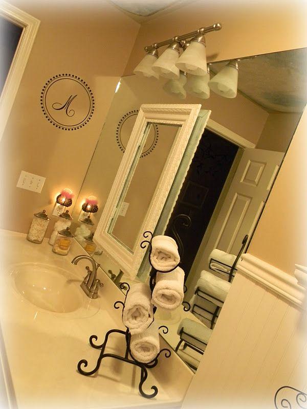 Like Mirror Wall Monogram And Wine Rack Towel Holder