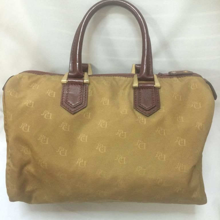 Dior Vintage Christian Dior Beige Handbag Purse In Logo Jacquard And Wine Leather msQatKeSE