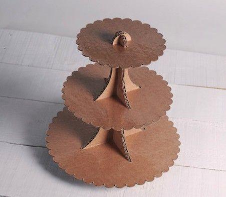 carton cupcake stand