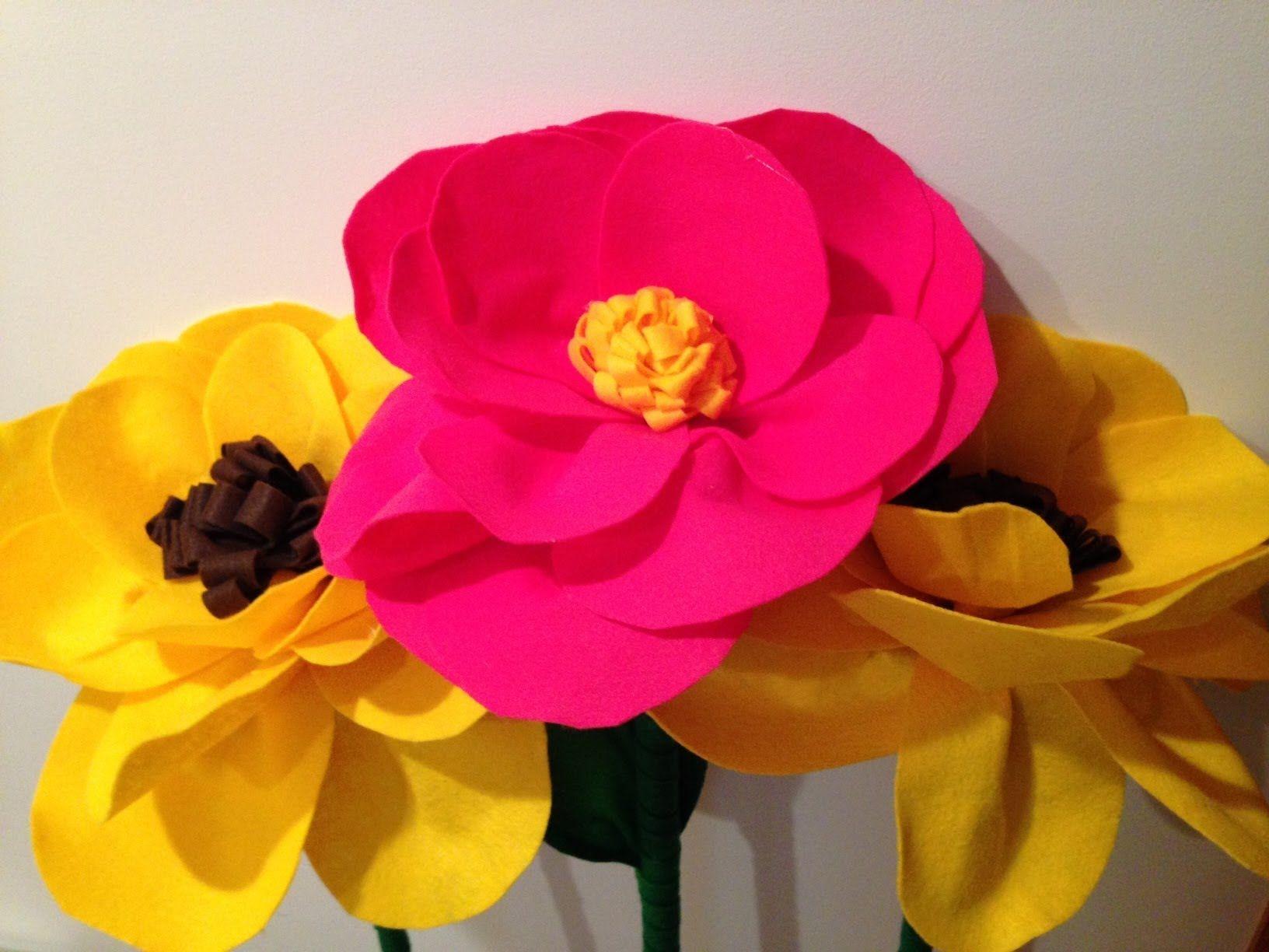 Flor gigante de Feltro Giant Felt Flower