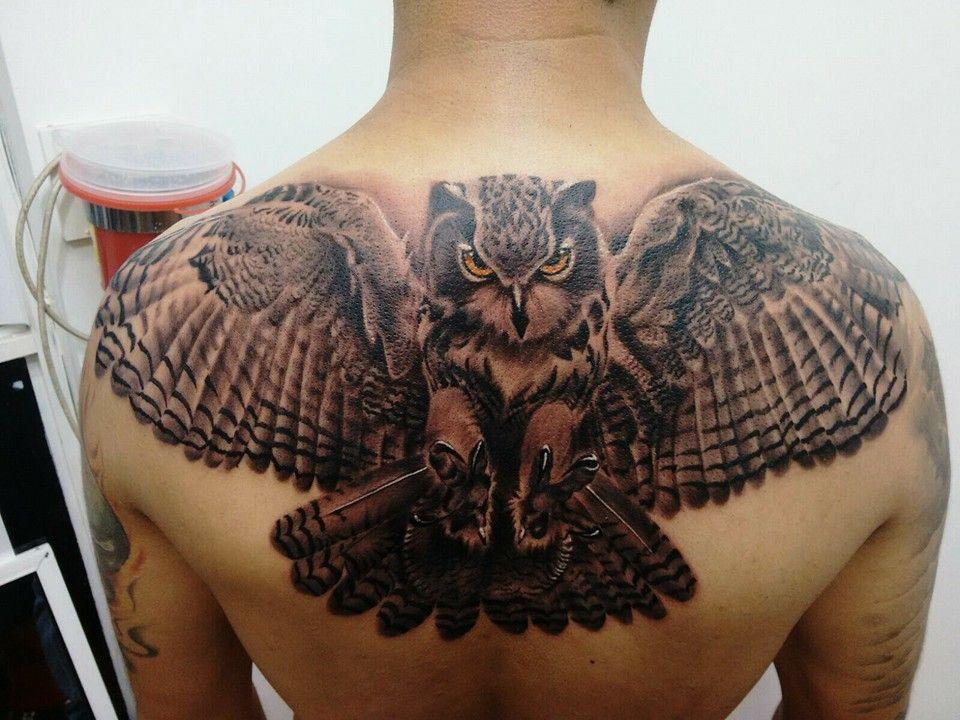 Eulen Tattoo