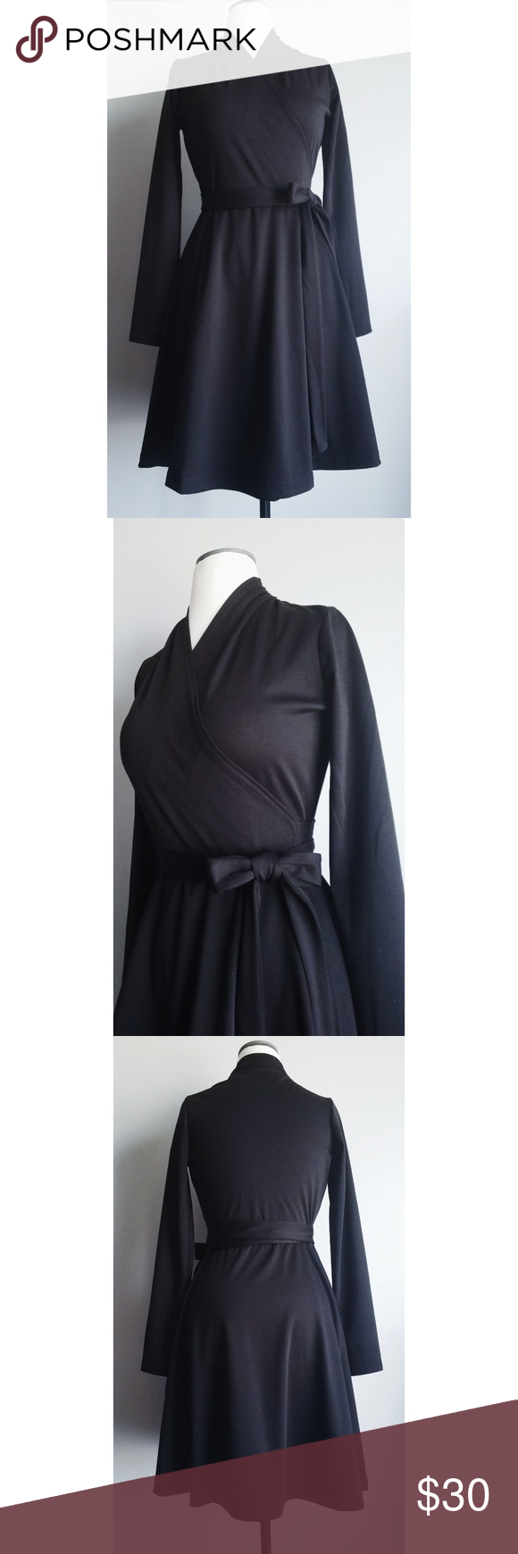 Black wrap dress nwt my posh picks pinterest dresses wrap