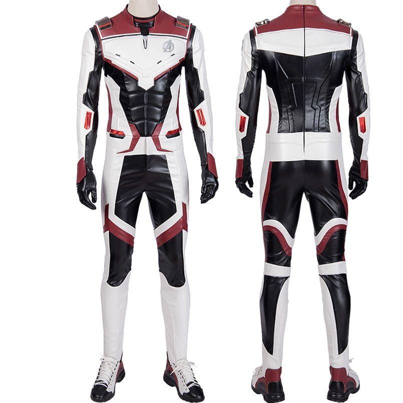Avengers Endgame Cosplay Costume Jumpsuit Avengers Team Uniform Iron Man Black Widow White Suit Qu Black Widow White Suit Avengers Costumes Black Widow Cosplay