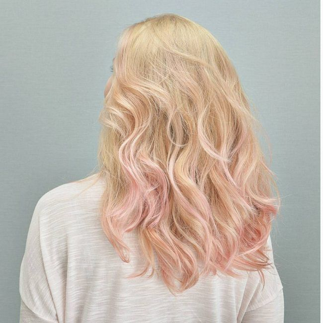 pink pastel ombre for blonde hair pinterest die haare und haar. Black Bedroom Furniture Sets. Home Design Ideas