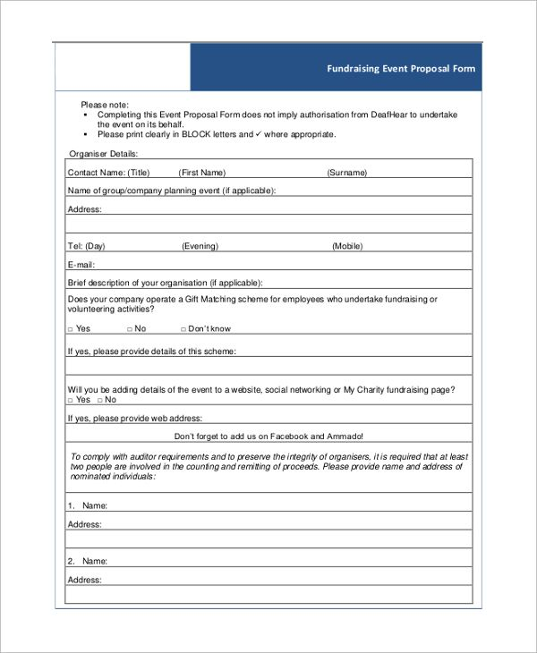 Sample Event Proposal Template - 21+ Free Documents in PDF, Word - event proposal template word