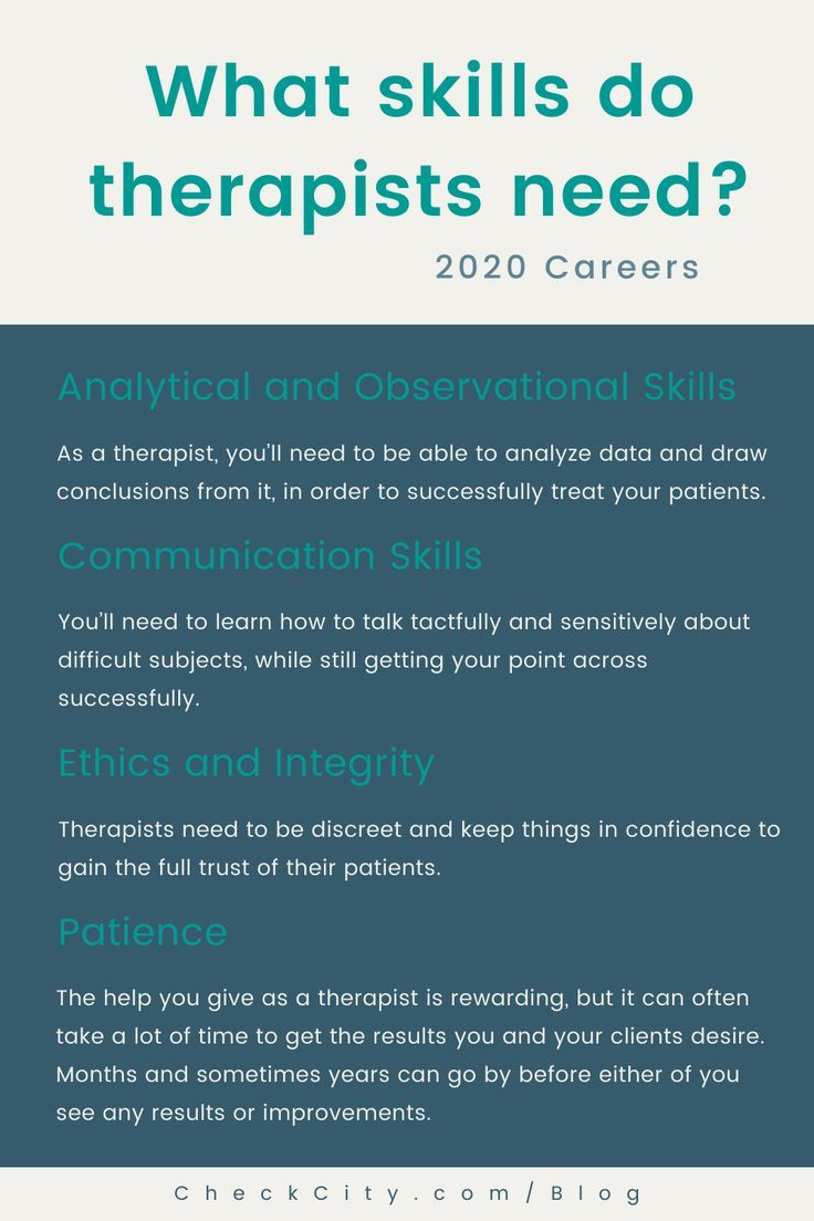 What skills do therapist need? in 2020 Therapist