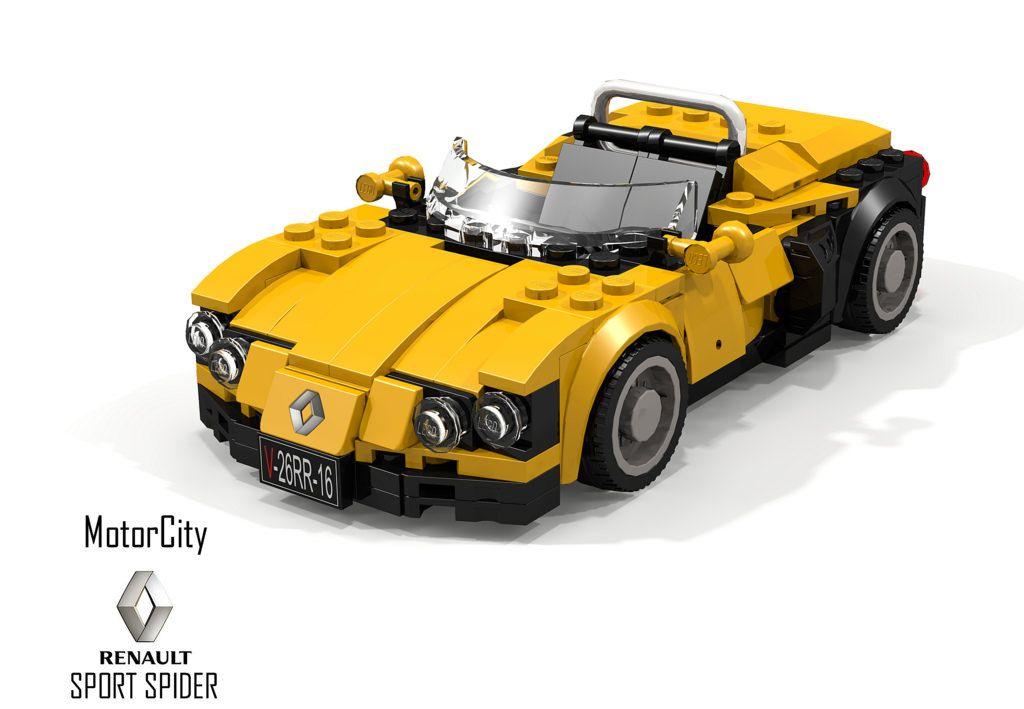 motorcity renault sport spider lego pinterest. Black Bedroom Furniture Sets. Home Design Ideas