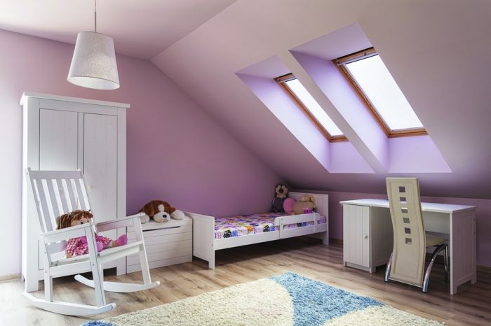 kinderzimmer gestalten mit dachschr ge bibkunstschuur. Black Bedroom Furniture Sets. Home Design Ideas