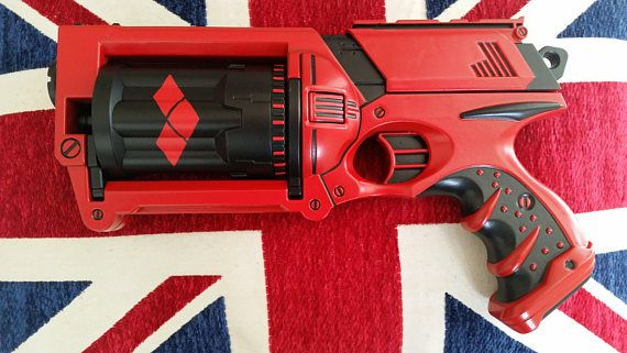Harley Quinn Nerf gun mod paint scheme in my Etsy shop https://www