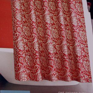Target Home Red Jacobean Floral Fabric Shower Curtain Fabric