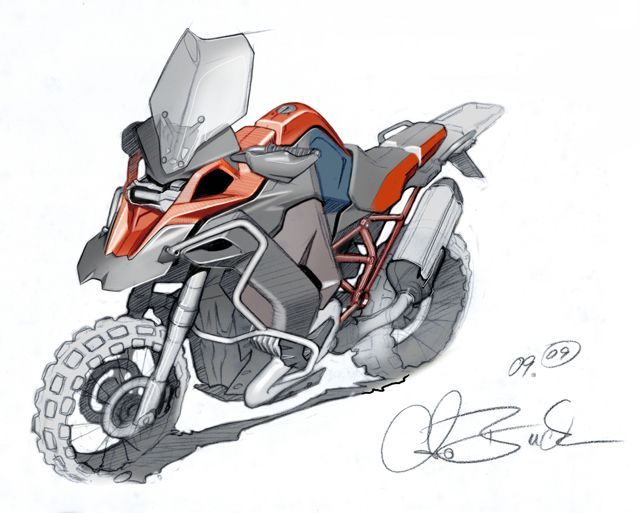 Bmw R1200gs Cartoon With Images Bike Sketch Motorcycle Illustration Bike Drawing
