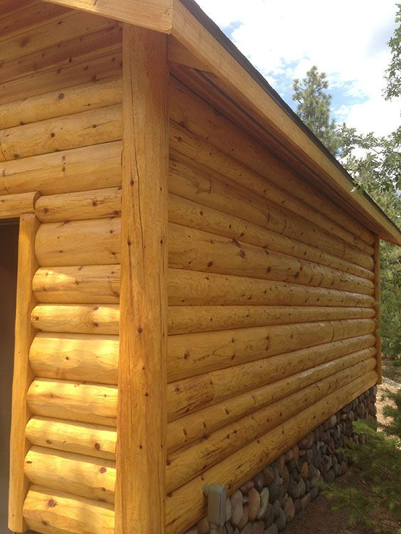 Garage With 4x8 4x10 And 4x12 Fatboy Pine Siding With