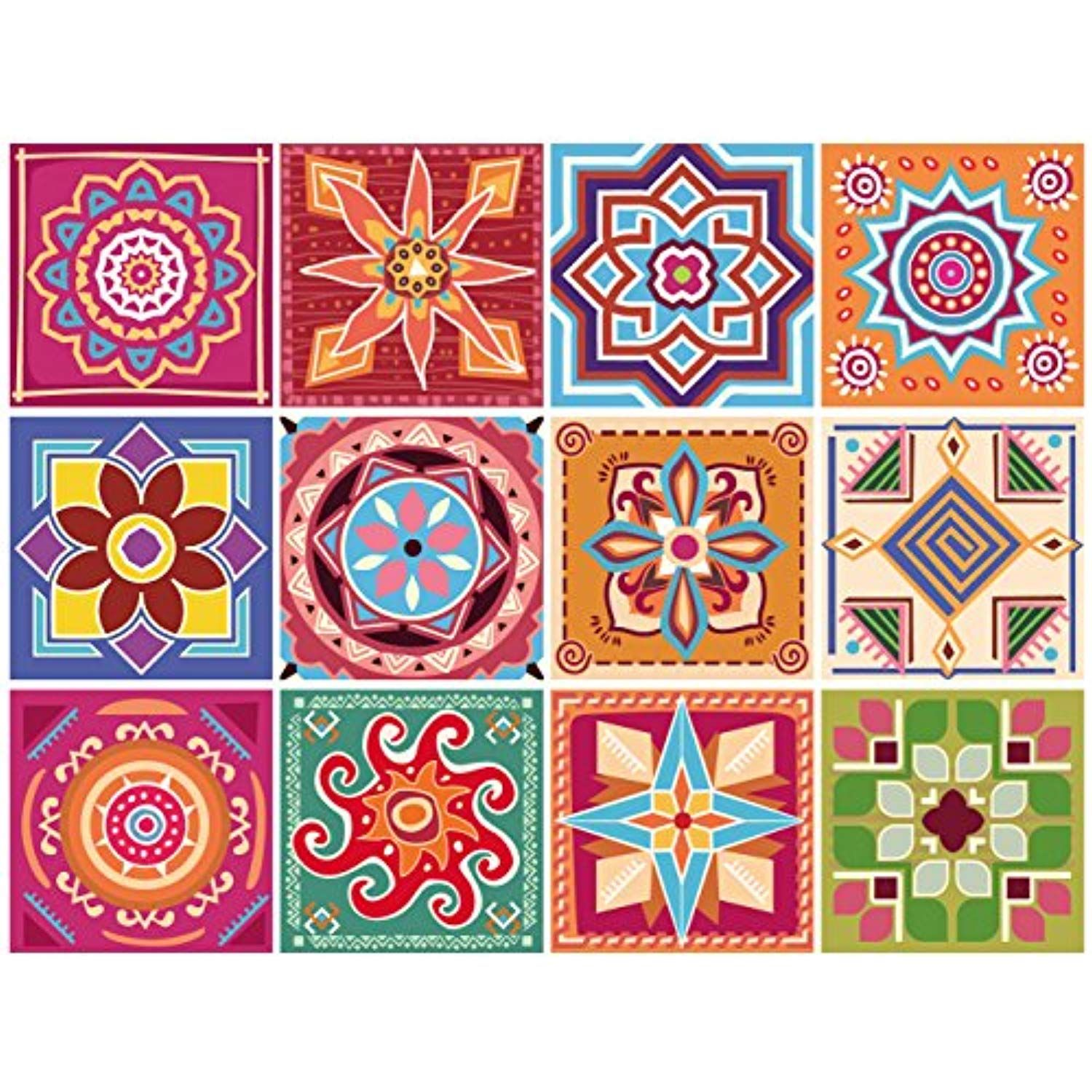 Gss Designs 12 Pc Pack 6x6 Inch 15x15cm Backsplash Tile Stickers Circuit Board Sticker Label Wall Decals Peel And Stick Stairs Home Furniture Decor