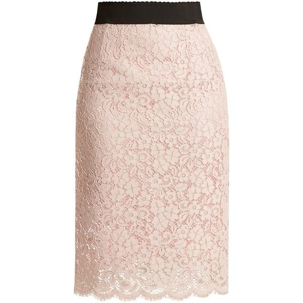 e9955fb0d5cf Dolce   Gabbana Cordonetto-lace pencil skirt ( 1