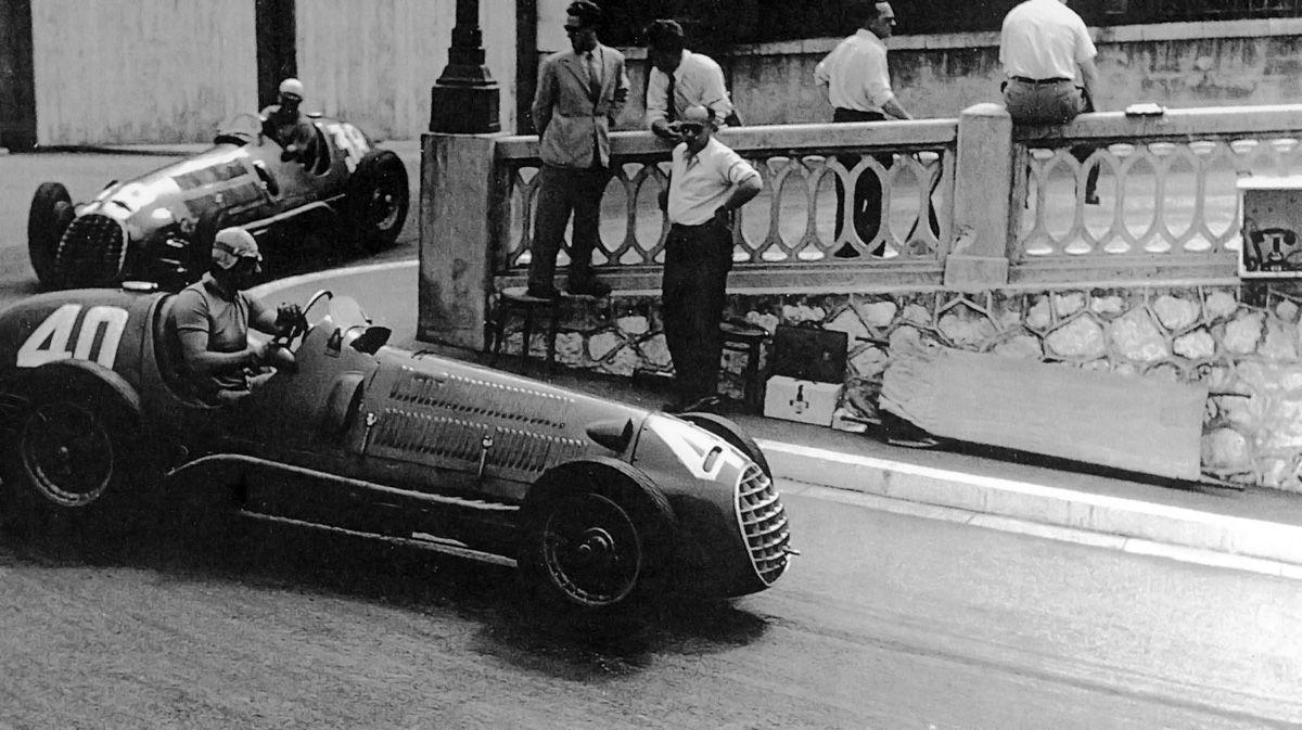 Drivers Ascari And Villoresi At Monaco Gp