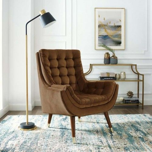 So Comfortable Tufted Brown Velvet Lounge Chair Velvet Lounge Chair Velvet Lounge Tufted Accent Chair