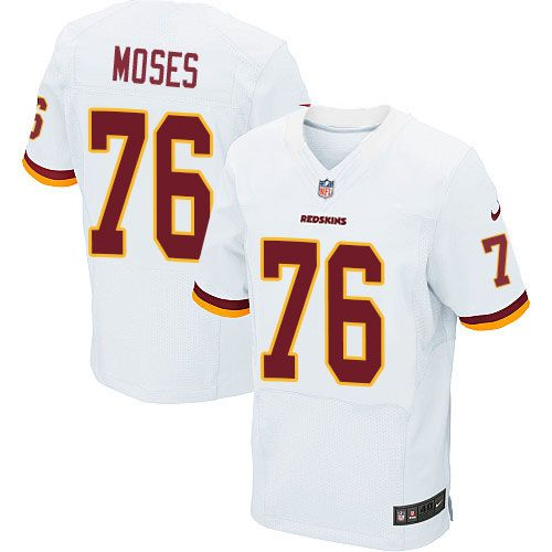 Nike Elite Morgan Moses White Men's Jersey - Washington Redskins #76 NFL  Road