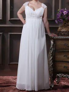 626467c169 Talla-Plus-Nuevo-white-ivory-Vestido-De-Novia-Vestido-De-Novia-Custom-16-18- 20-22-24-26-28