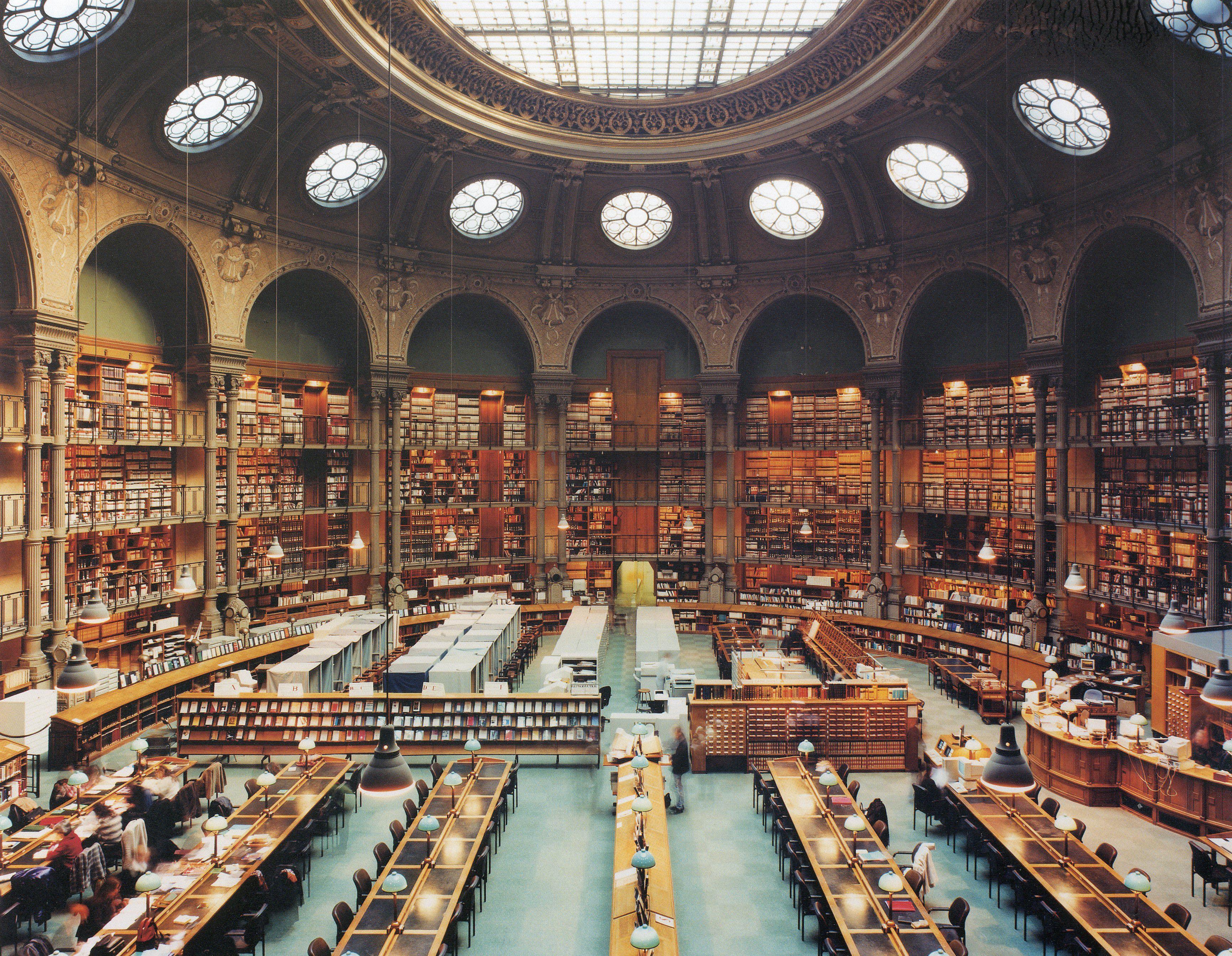 Salle ovale, site Richelieu, Bibliothèque Nationale de ...