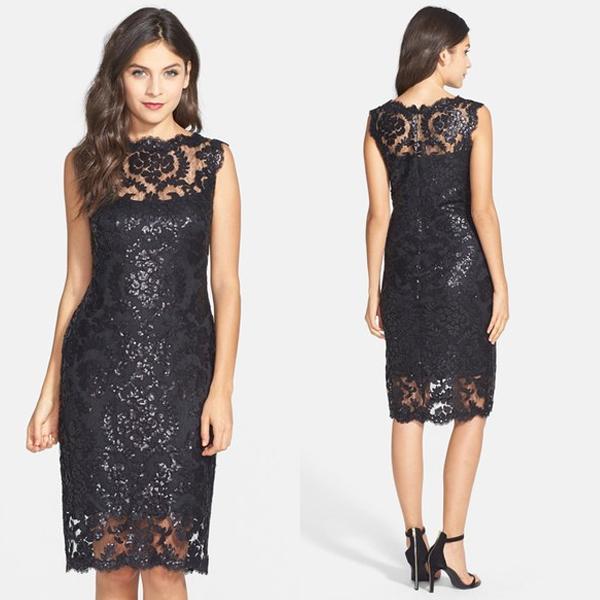Tadashi Shoji Illusion Lace Dress _Other dresses_dressesss