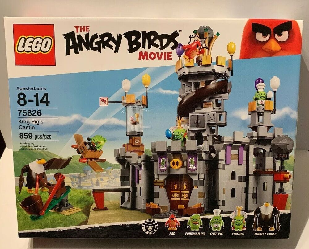 LEGO 75826 Angry Birds King Pigs Castle Red Mighty Eagle King Chef Foreman Pig