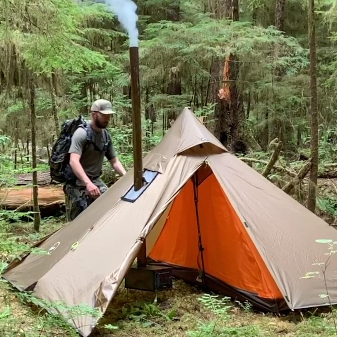 Photo of Minipeak XL Pyramid (3P) Wood Stove Hunting Tent