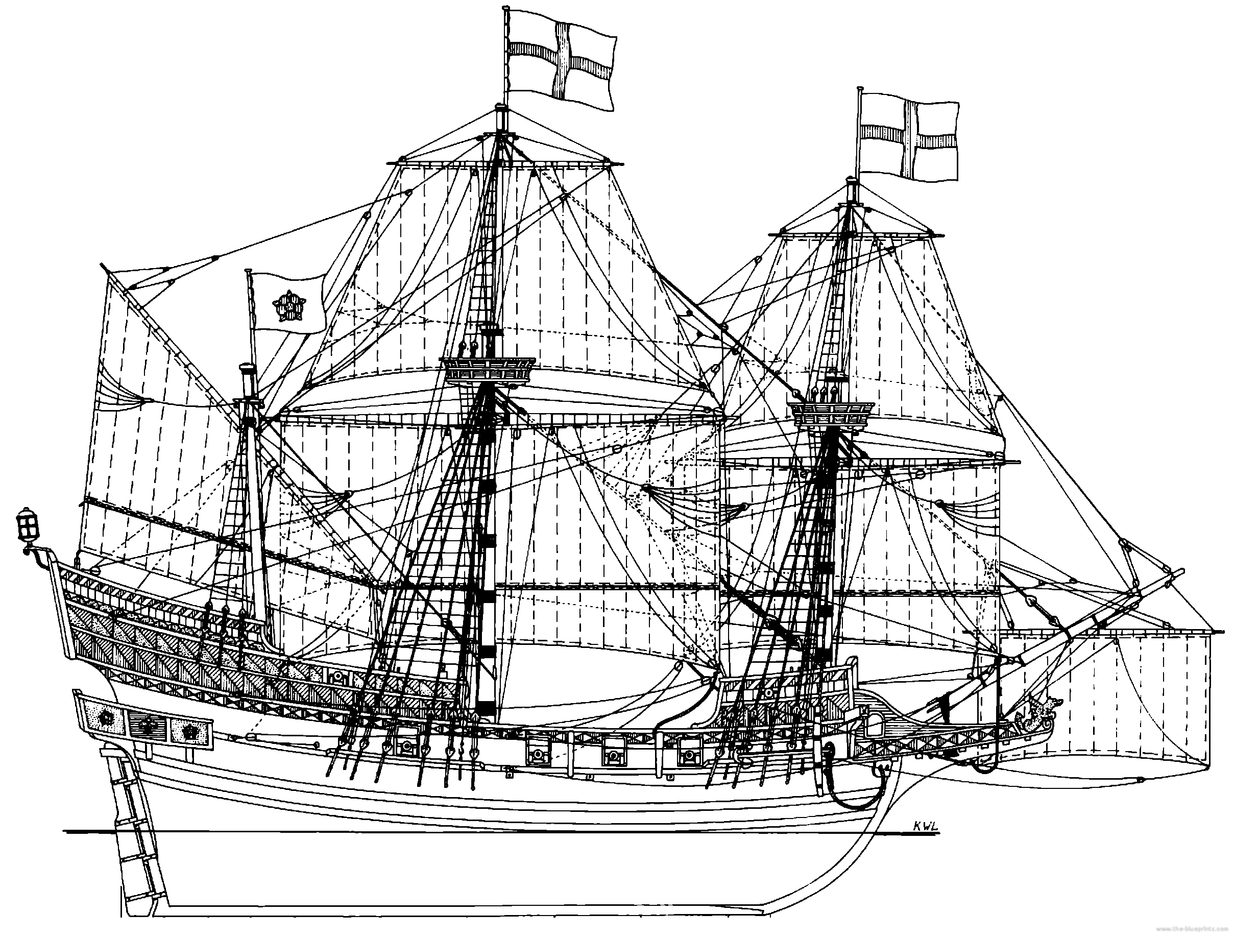 english-galleon-1588.png (2417×1837)