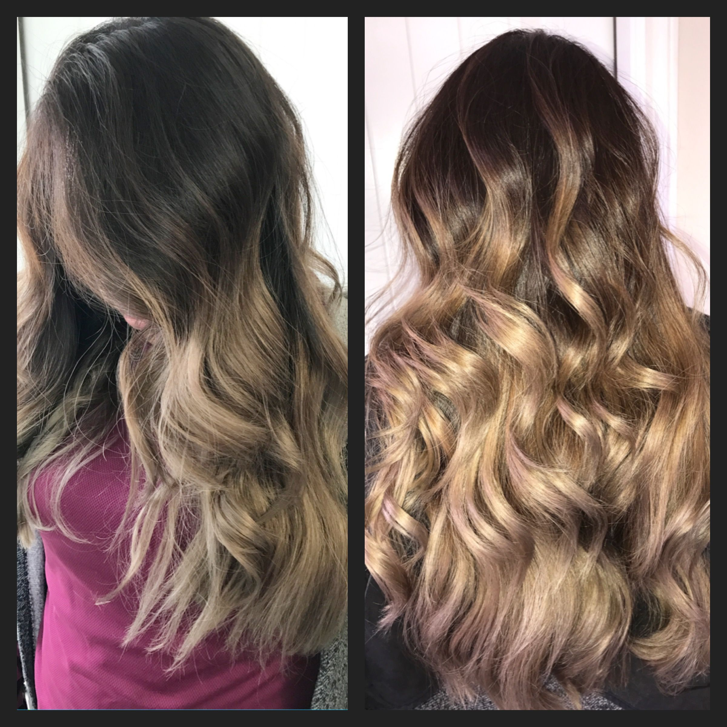High Contrast Ombre Refresh With A Toner And Root Color