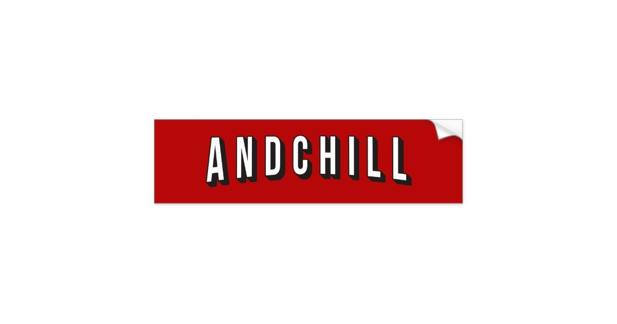 Car bumper stickers · netflix andchill