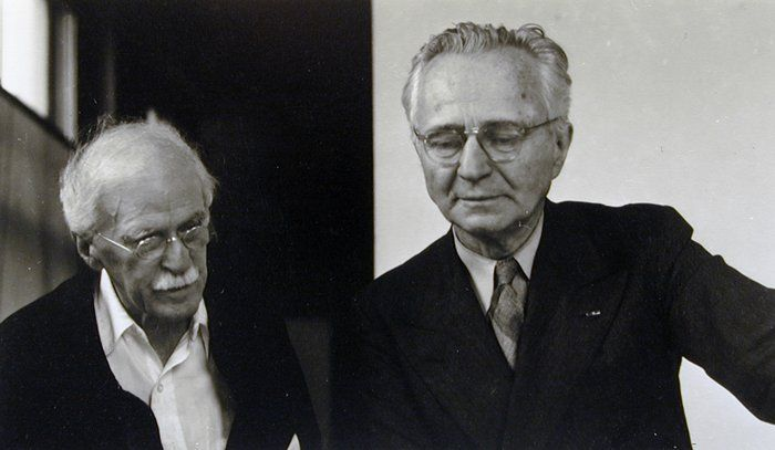 Alfred Stieglitz and Edward Steichen, An American Place, by Dorothy Norman, 1946