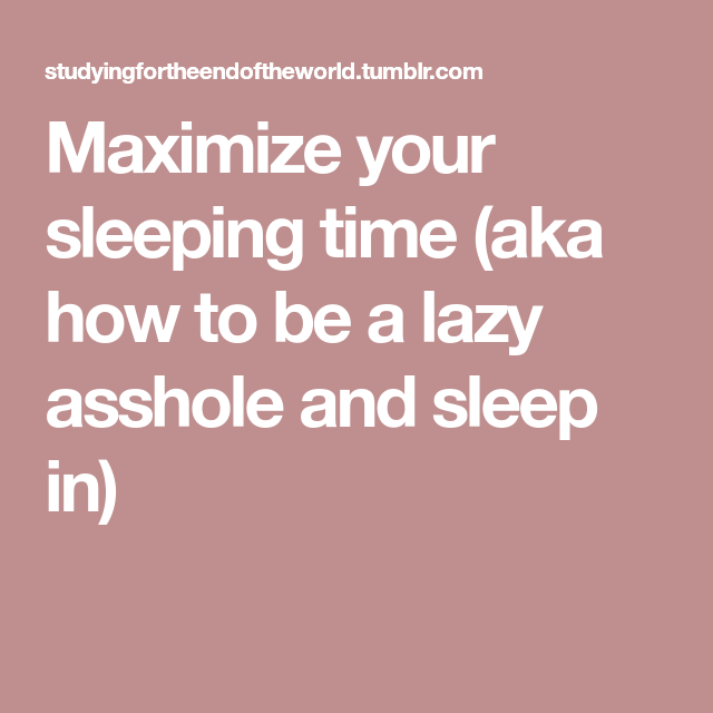 Sleep Asshole