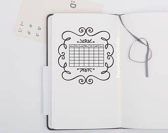 Date Stamp Perpetual Calendar Scrapbook Journal Planner