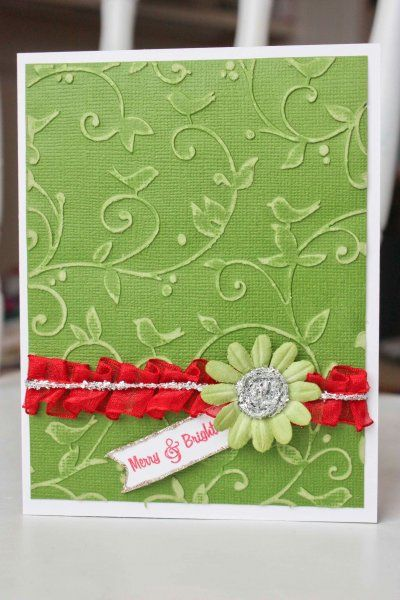 Cute card-embossed