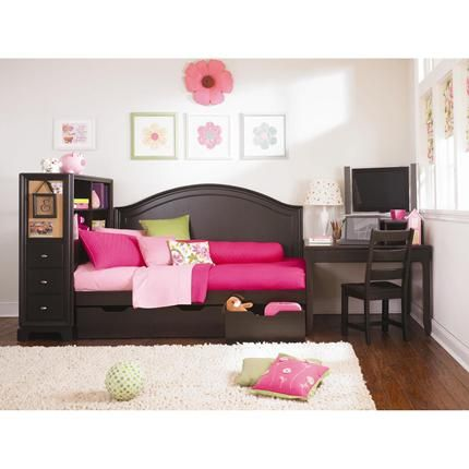 Day Bed Platform bed with storage Headboard and Desk