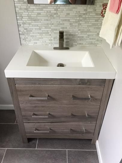 Charmant Glacier Bay Woodbrook 30 1/2 In. W Bath Vanity In White Washed Oak With  Cultured Marble Vanity Top In White With Mirror WB30P3 WO At The Home Depot    Mobile